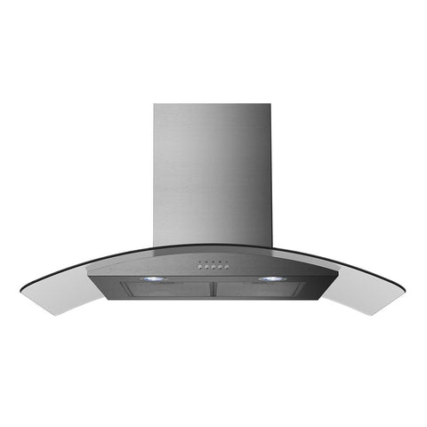 Midea MHC90CGSS 90CM Curved Glass Canopy Rangehood - Ople Appliances