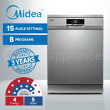Midea MDWF2SS 60cm Freestanding Dishwasher Silver - Ople Appliances