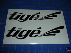 Tige Boats Decal Sticker - Black