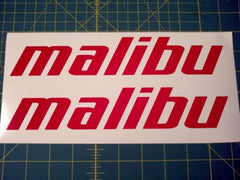 Malibu Boats Decal Sticker - Red