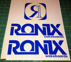 Ronix Bold Logo Wakeboard Decal Sticker - Blue