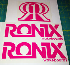 Ronix Bold Logo Wakeboard Decal Sticker - Pink