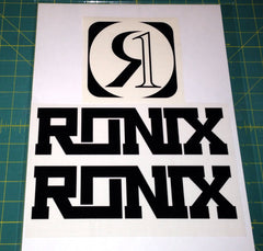 Ronix Code22 Logo Wakeboard Decal Sticker - Black