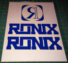 Ronix Code22 Logo Wakeboard Decal Sticker - Blue