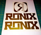 Ronix Code22 Logo Wakeboard Decal Sticker - Gold