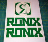 Ronix Code22 Logo Wakeboard Decal Sticker - Green