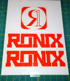 Ronix Code22 Logo Wakeboard Decal Sticker - Orange