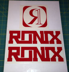 Ronix Code22 Logo Wakeboard Decal Sticker - Red