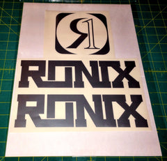 Ronix Code22 Logo Wakeboard Decal Sticker - Silver