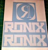 Ronix Code22 Logo Wakeboard Decal Sticker - White