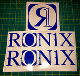 Ronix Original Logo Sticker - Blue
