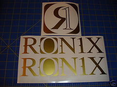 Ronix Original Logo Sticker - Gold
