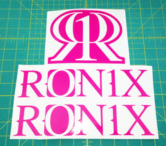 Ronix Original Logo Sticker - Pink