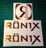 Ronix Parks Logo Sticker - Gold