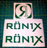 Ronix Parks Logo Sticker - Green