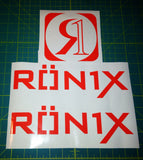 Ronix Parks Logo Sticker - Orange
