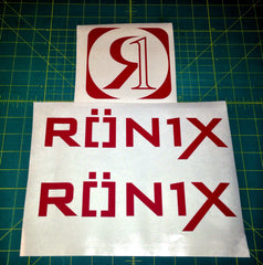 Ronix Parks Logo Sticker - Red