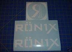 Ronix Parks Logo Sticker - White