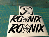 Ronix William Logo Sticker - Black
