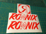Ronix William Logo Sticker - Orange