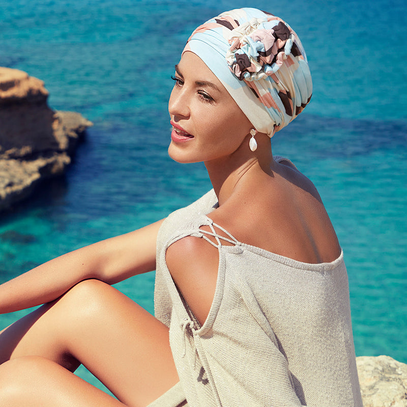 Christine Headwear Lotus Turban printed