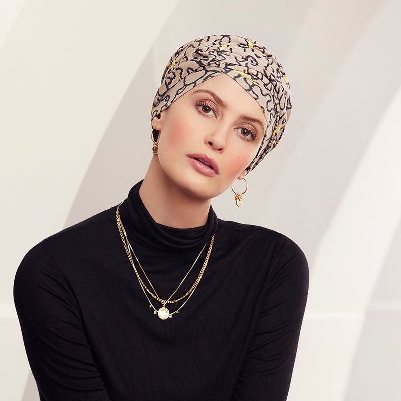 Christine Headwear Rosa V Turban printed