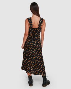 RVCA Pushin Daisies Midi Dress