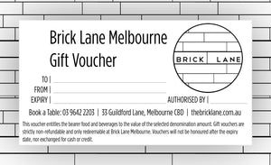 Brick Lane Breakfast & Lunch Voucher