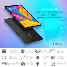 "Load image into Gallery viewer, Teclast P10HD Tablets 10.1"" Android 9.0 Tablet PC 1920x1200 SC9863A Octa Core 3GB RAM 32GB ROM 4G Network AI Speed-up - iKindom"