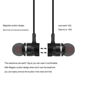 5.0 Bluetooth Earphone Sports Neckband Magnetic Wireless earphones Stereo Earbuds Music Metal Headphones With Mic For All Phones - iKindom