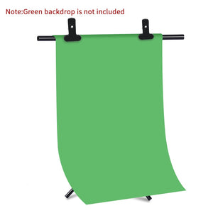 T-Shape Portable Background Backdrop Support Stand Kit Tall Adjustable Photo Backdrop Stand with Spring Clamps - iKindom