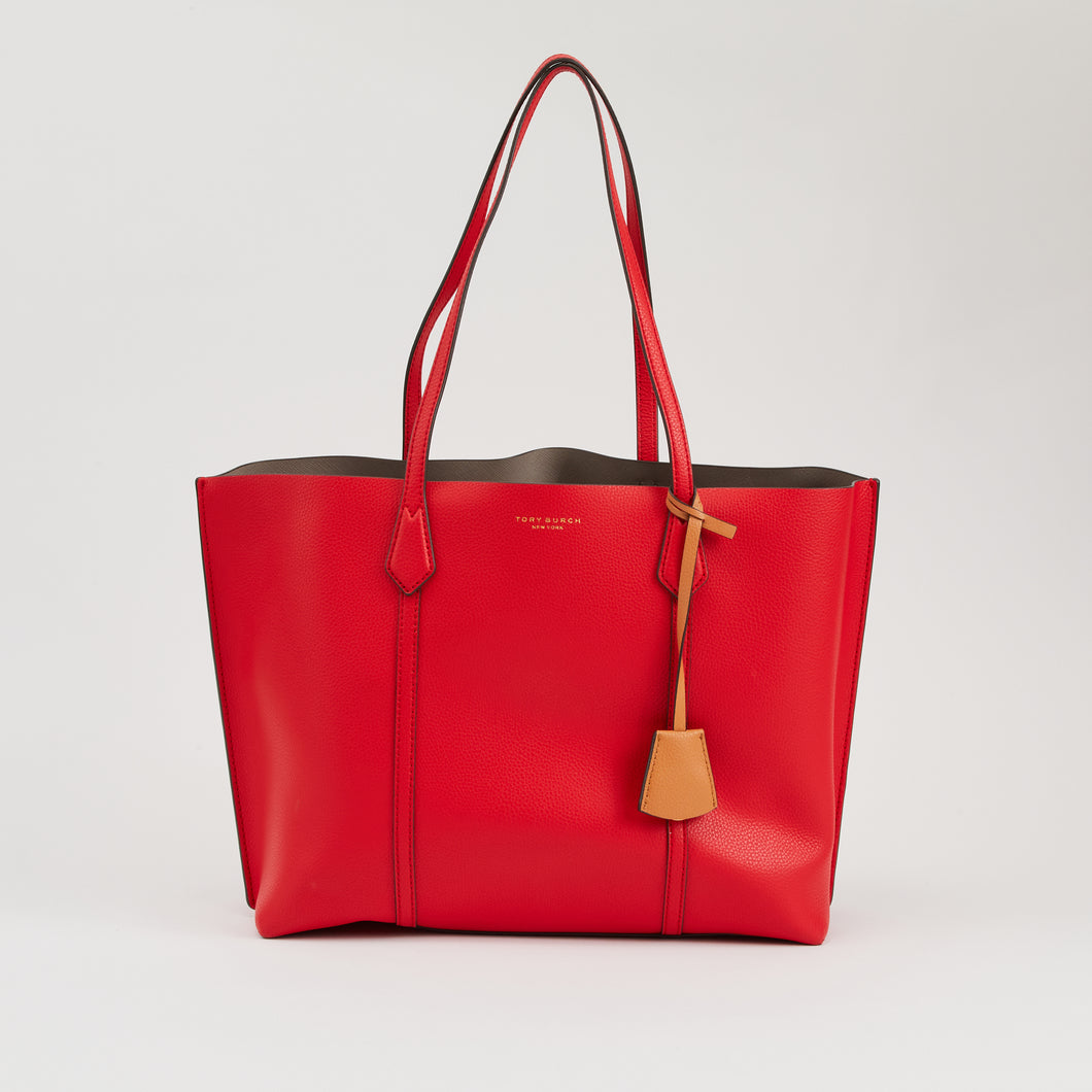 PERRY TRIPLE COMPARTMENT TOTE RED