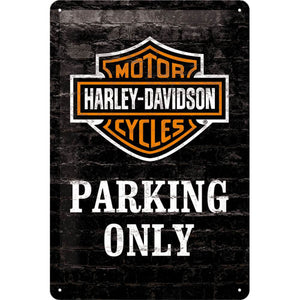 Harley Davidson Parking Only - Metallschild 20x30 cm