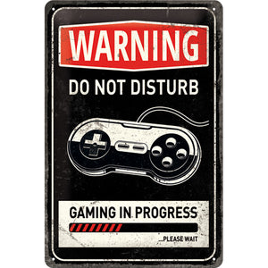 Warning DO NOT DISTURB - Blechschild Metallschild 20x30cm