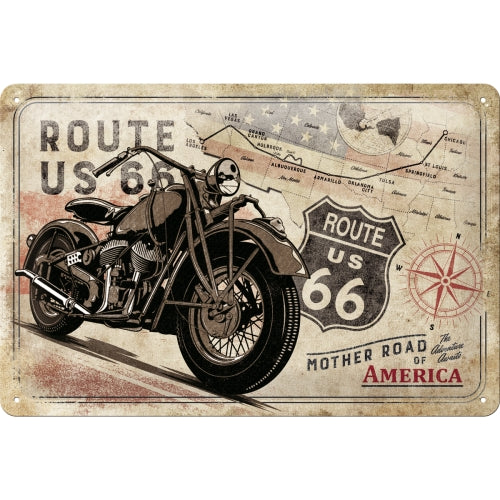 Route 66 - Mother Road of America - Metallschild 20x30cm