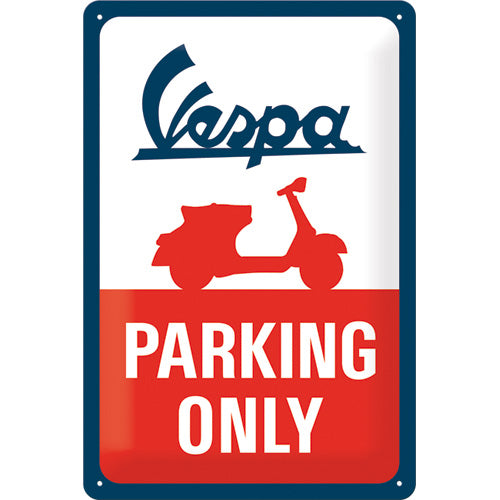 Vespa Parking Only - Metallschild 20x30cm