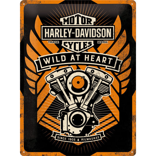 Harley Davidson Wild At Heart - Metallschild 40x30cm