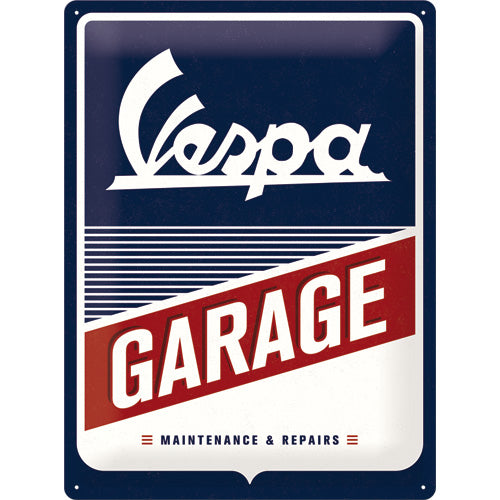 Vespa Garage - Metallschild 30x40cm