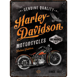 Harley-Davidson - Timeless Tradition - Metallschild 40x30cm