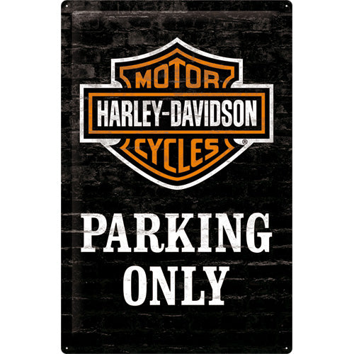 Harley Davidson Parking only  - Metallschild  60x40cm