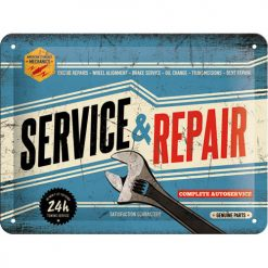 Service & Repair   - Metallschild 20x15cm