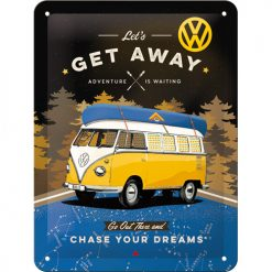 VW BUS T1 GET AWAY   - Metallschild 20x15cm