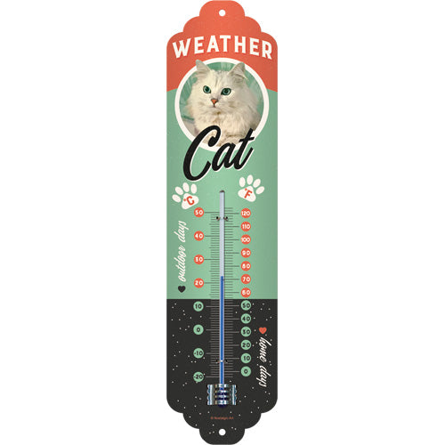 Katzen Weather Cat - Thermometer 28 x 6,5 cm