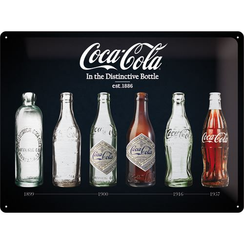 Coca Cola in the Distinctive Bottle- Special Metallic Edition 40x30cm