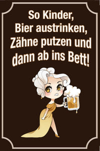 Bier - So Kinder, Bier austrinken