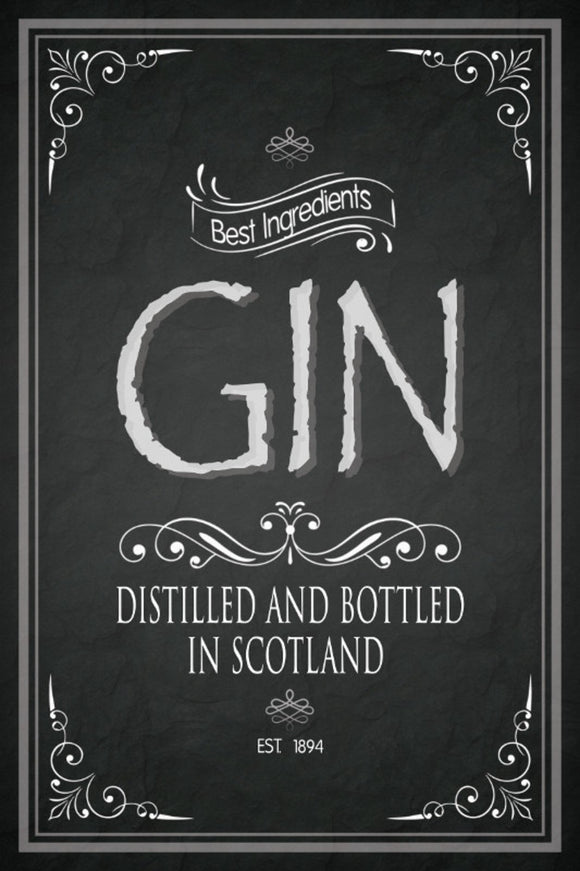 Gin - Distilled and bottled in Scottland