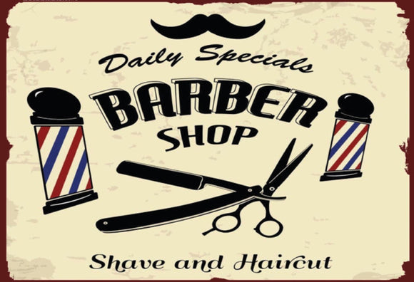 Barber Shop - Shave and Haircut