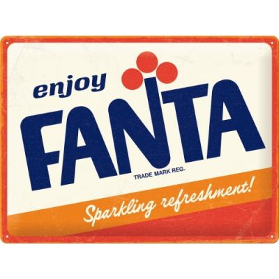 Enjoy FANTA - Orangenlimonade - Metallschild 30x40 cm