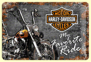 Harley Davidson - My Favorte Ride Metallschild 20x30cm