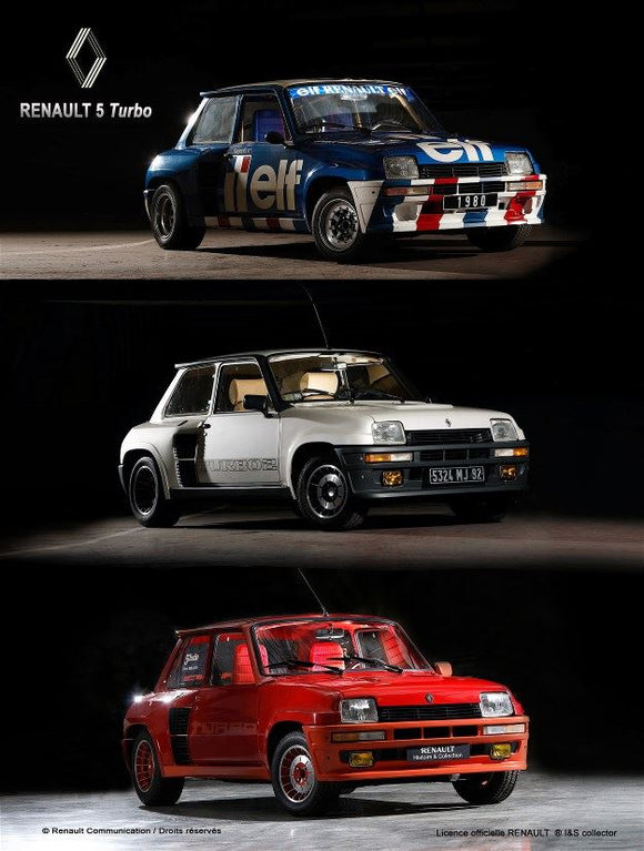 Renault 5 R5 Turbo - Collage  - Metallschild  20x30cm